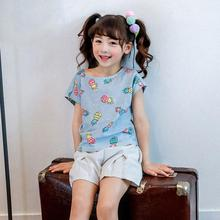 Brand 2017 New babyKids Girls Tshirt Child Clothing Childrens Tops Summer Clothes Short Sleeve Tee blouse shirts Cartoon