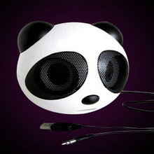 New Speaker Portable Wire Speaker Sound System 3D Stereo Music Surround Cartoon Panda for sharp usb speaker(China)