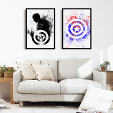 Modern Minimalism Marvel Comics Captain America Art Print Canvas Mural Wall Picture Living Room Bedroom Home Decoration Painting