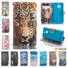 Case for HTC one M8 Eye M8e Case Luxury fashion painted wallet card slotted mobile phone holster for HTC M8 QL One M8s M8Sv Bag(China)