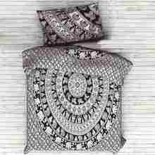 Bedding Outlet Red Mandala Bedding Set Home Elephant Messenger Indian Bed Linen Soft Fabric Moroccan Bedclothes 3Pcs Real