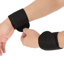Hot 2 Pcs Wrist Brace Protection Belt Spontaneous Heating Hand Massager Magnetic Therapy Belt