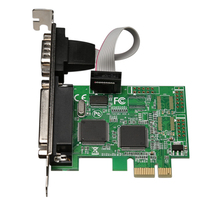 RS232 RS-232 Serial Port COM & DB25 Printer Parallel Port LPT to PCI-E PCI Express Card Adapter Converter WCH382 Chip