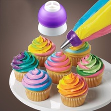 3 Colors Icing Piping Decorating Nozzle Converter Adapter Fondant Cake Baking Decorating Tool Plastic Fit for >3cm Nozzle