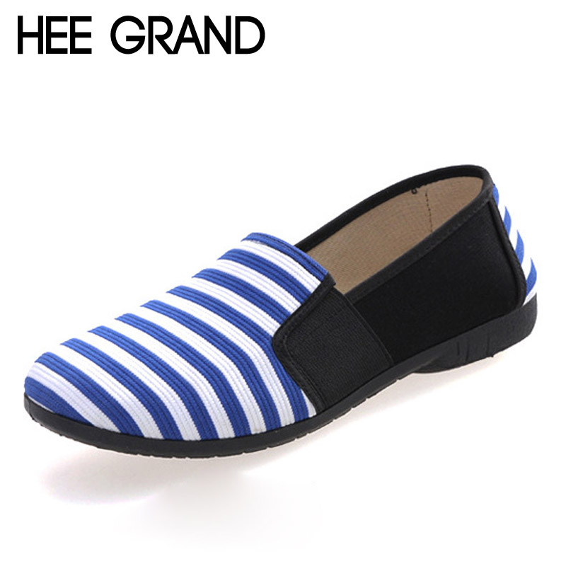 HEE GRAND Stripe Loafers 2016 Spring Comfortable Women Shoes Slip On Patchwork Flats Round Toe Mother Canvas Shoes Woman XWD2912<br><br>Aliexpress