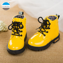 2017 1 to 3 years old baby girls shoes kids fashion boots infant toddlers boots brand high quality children's martin boots(China)