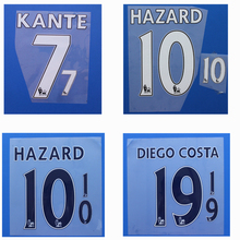 Premier League TERRY FABREGAS KANTE HAZARD DIEGO COSTA DAVID LUIZ WILLIAN custom football number font print ,patches badges