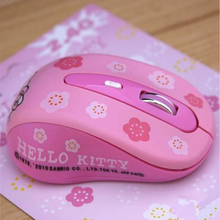 Wireless Mause Hello Kitty Computer Mouse 2.4GHz 1600DPI Wireless Optical PC Gaming Mouse Mice Pink For Girls