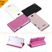 New Wallet Luxury Flip Leather Case For Sony Xperia C S39h C2305 Phone Cover With Stand 2 Card Holders 1 Bill Site Drop Ship