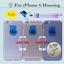 Brand New For iPhone 6 4.7' Chassis Back Housing  Battery Cover Door with LOGO& Buttons&Sim Tray+Sticker+Tools can Custom IMEI