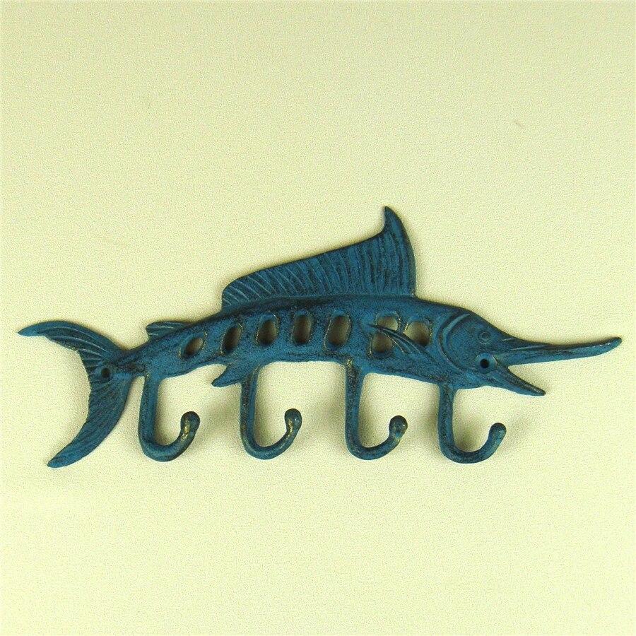 Creative Cast Iron Swordfish Hook Wall Mounted Metal Sailfish Hanger ...