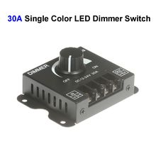 30pcs DC12V-24 30A Single Color LED Dimmer Switch Controller For SMD 3528 5050 5730 Single Color LED Rigid Strip Lamp