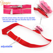 "Wholesale 600pcs/lot 20colors Girls And Kids 5/8"" Solid FOE Shimmery Elastic Adjustable Headband Hairband Hair Accessories(China)"