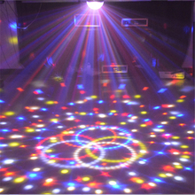 9 Colors Crystal Magic Ball Led Stage Lamp 21 Mode Disco Laser Light Wedding Party Bar DMX Remote Sound Control Lumiere Laser