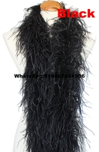 10meters Black color feather boas 5ply ostrich feather fringes strips tape 2meter long per pc High quality!!
