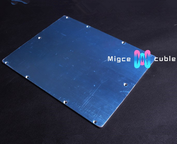 3 D printer accessory protective aluminium plate / sheet  for heating platform 230*200*3mm with blue film reprap <br><br>Aliexpress