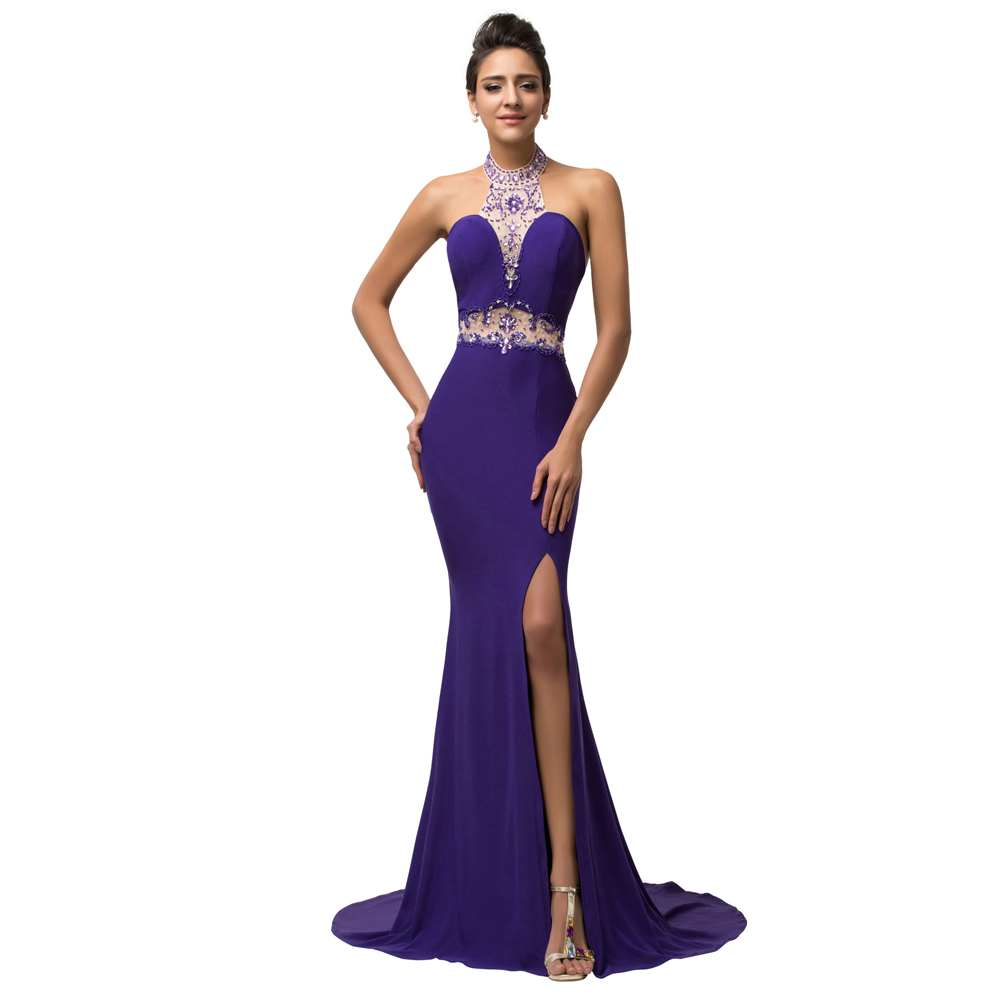 Online get cheap gown purple evening dress aliexpress alibaba grace karin sexy side slit high neck backless long mermaid evening dress 2016 party gown women crystal purple mermaid gowns 7595 ombrellifo Choice Image