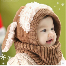 2015 New Baby Boy Girl Winter hats  dog style  Bonnet Infant Ear Protector Cute Hat Cap