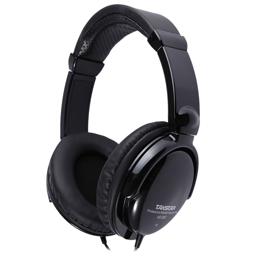 TAKSTAR HD2000 Professional Monitor Headset DJ Noise Cancelling Gaming Headphone Black 50mm Moving-Coil Speaker Earphone For PC<br><br>Aliexpress