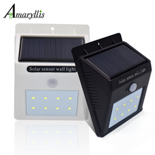 8 LED Solar Lights Super Bright Outdoor PIR Motion Sensor Lighting Waterproof Lamp for Garden Backyard Patio Fencing Pathway(China)