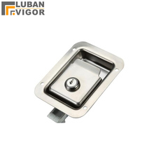 Factory outlets,stainless steel ,MS858 Pull type Panel Cabinet lock Van car/RV Mechanical door locks,Industrial cabinet lock(China)