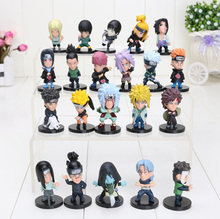 21pcs/set 2.3inch Naruto  Naruto kakashi sasuke xiao earners model doll Naruto Kaka Xizuo full paragraph Value Pack