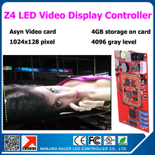 5pc video card for indoor outdoor led video display sign Z4 led video controller card 4096 gray level for video animation messge(China)