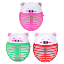 Cute Pig Shape Electric Mini Mosquito Lamp LED Anti Mosquito Repeller killing Fly Bug Insect Trap Night Lamp Killer Zapper(China)