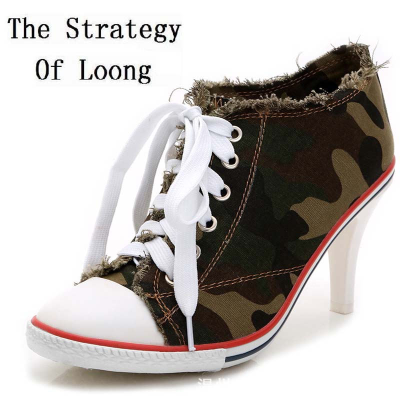 short Plus velvet high-heeled leopard print women shoes 2016 new arrival lacing canvas casual pointed toe lady denim ankle boots<br>