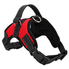 Practical Service Dog Harness Vest Service Dog Harness Vest Cool Comfort Oxford cloth for dogs Red