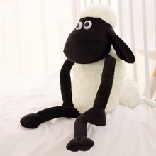 1pcs Cute 32cm/13'' Goat Lamb Pendant Black White Sheep Soft Plush Toys Doll Xmas Kid Baby Gift  Fast Delivery Good Quality