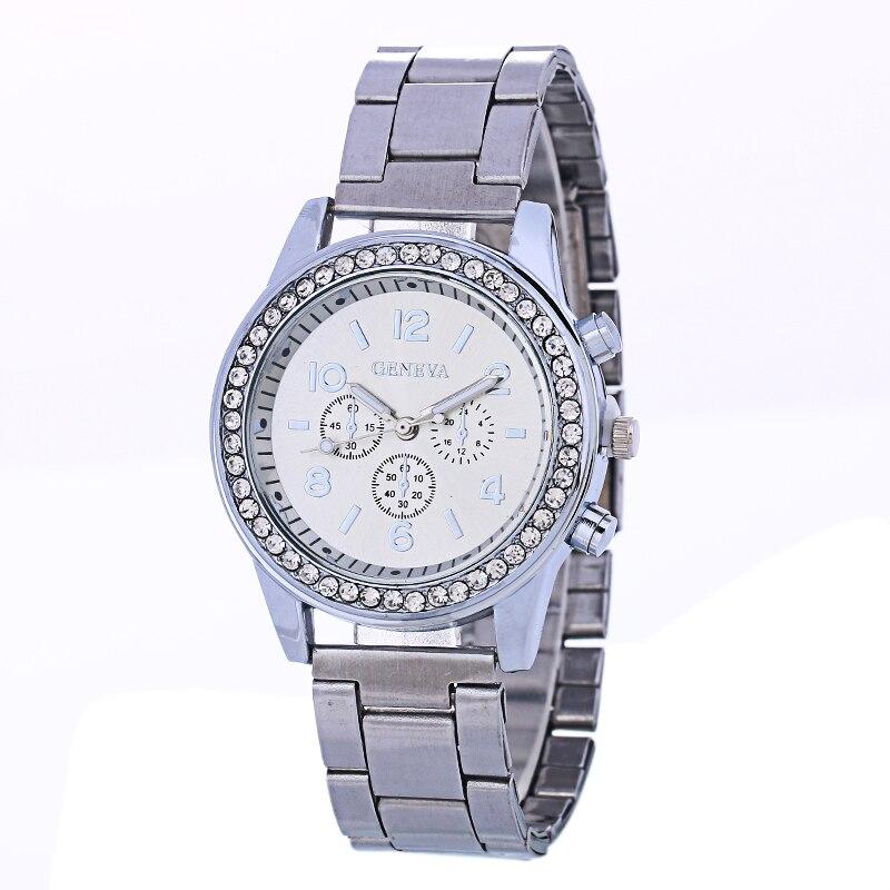 McyKcy New Fashion Rhinestone Watches Women Luxury Brand Stainless Steel Bracelet watches Ladies Quartz Dress Watches reloj muje<br><br>Aliexpress