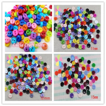 50pcs 6/11/12/15mm Random Mixed 2 Holes Resin Buttons Scrapbooking Decorative Buttons Apparel Sewing 13021113
