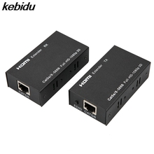 kebidu HDMI Extender Transmitter Network Cable with RJ45 Receiver Sender LAN Interface CAT5e CAT6+60m For DVD For PS3 Projector(China)