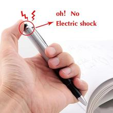 1pc Shocking Electric Pen Funny Tricky Practical Jokes Novelty Pen Toys Joke Prank Trick Fun Novelty Friend's Best Gift(China)