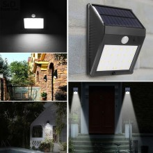 Buy LED Solar Power Motion Sensor Wall Light Outdoor Waterproof Energy Saving Street Yard Path Home Garden Security Lamp 20 LEDs for $13.99 in AliExpress store