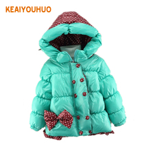 Buy Children Coat fashion Baby Girls winter Coats kids jacket long sleeve coat girl's warm jacket Winter Outerwear Thick girls for $10.30 in AliExpress store