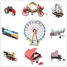 3D Metal building  Puzzle LUCKY PIGLET Mini Fun Finger DIY Adult Jigsaw Assembling Model Children Educational Toys 2017 NEW 08
