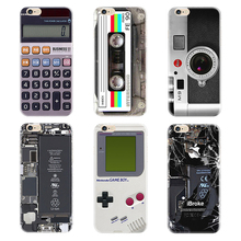 Silicone Case For iPhone 5 5s 6s 7 Plus Soft Transparent TPU Case Camera Calculator Phone Cover For iPhone 5s 6s 6 7 Plus PC-012
