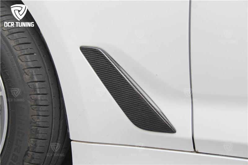 G30 Carbon Fiber Fender Car Front Side Air Vent Cover Trim for BMW 5 Series G30 2017 + (2)