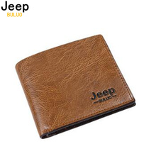 JEEP BULUO Man's Money Clips Pu Wallets For Men Fashion Card Case Wallet(China)