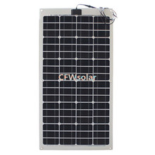 made in china 75w semi flexible solar panels with aluminum plate,  12V solar panel charging for 12V battery.