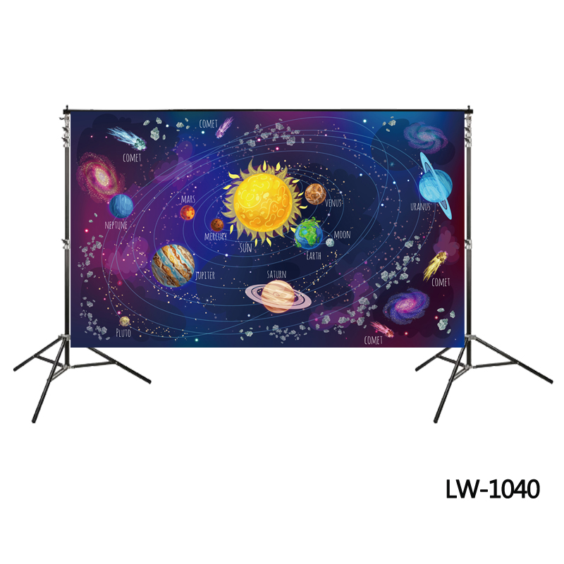 Solar planets backdrop birthday party background photo backdrop photo studio props of backdrop Universe Galaxy Space backdrops