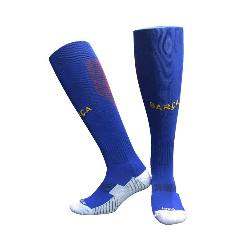 NO Logo National Team Germany Football Barreled Knees Slip Bottom Thick Stocking Spain Soccer Socks Compression Socks 11