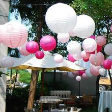 50pcs 12inch 32 color Round Paper Lanterns 30cm Chinese Ball Rice Lamp For Wedding Party Decoration Holiday Supplies(China)
