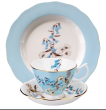 English afternoon tea bone china tea set ceramic one coffee cup+two disk