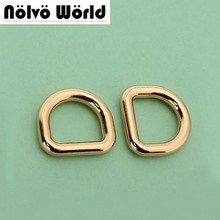 "3.3mm 12*10mm(1/2"" inside) webbing high quality gold metal D Ring for DIY handbags china direct metal supplier wholesale()"