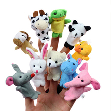 10pcs/lot Stuffed Dolls Finger Puppets Cartoon Animals Baby Favor Toys Dolls Kid Children Learning Educational Toy Gift  MR96
