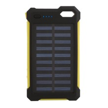 Wopow 300000mAh Solar power bank Charger Dual USB External Charger Battery PowerBank Long Lasting High Capacity for mobile phone(China)