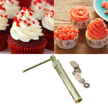 Best Stainless Steel Sugar Paste Extruder Craft Gun Tips Craft Fondant Cake Sculpture Polymer Clay Tools Random Color